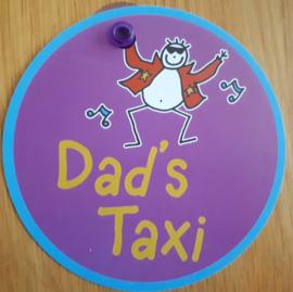 Dad's Taxi (auto raam bordje)