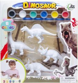 Schilder je eigen dino Spinosaurus 6 delig