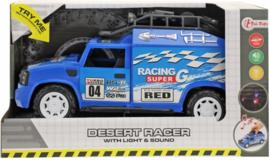 Race Auto Met Licht En Geluid Blauw