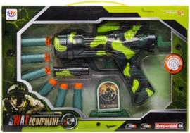 Swat schietspeelgoed met 6 pijltjesin doos groen