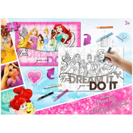 Inkleur puzzel Disney Princess 20x30 cm
