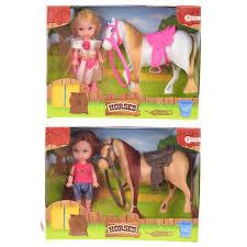 Kleine pop met schitterend paardje