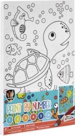 Schilderen op nummer voor kinderen schildpad