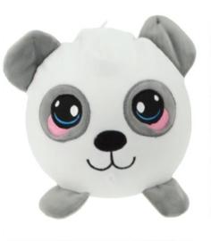 Knuffel Squeezies Panda Junior 20 Cm Pluche Wit/grijs