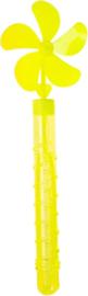Bellenblaas Met Windmolen 28 Cm Geel