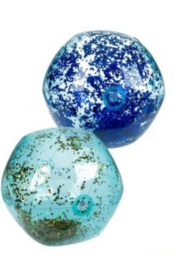 Opblaasbare strandbal met holografische glitter, D: ca. 50 cm (BLAUW)