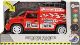 Race Auto Met Licht En Geluid Rood
