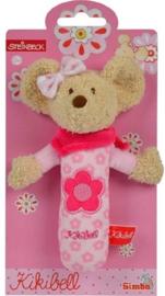 Pluche baby knijpfiguur Kikibell roze