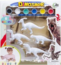 Schilder je eigen Dino Parasaurolophus 6-delig