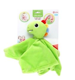 LITTLE STARS Baby knuffeldoek met rammel'Dino' +