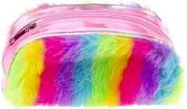 Etui Glitter Regenboog Roze