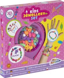 Kids Jewellery Set - plastic Easy Click Beads