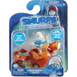 Smurfen the lost village Clumsy smurf & Spitfire  (Klungel en Spitvuur)