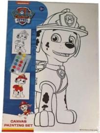 Schilderset Paw Patrol Marshall Junior Canvas Wit