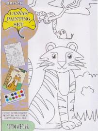 Maak je eigen tijger schilderij (L)