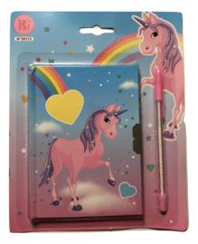 Dagboek met slot eenhoorn/unicorn