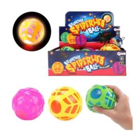Bouncing ball 'Web' w light Ø10cm