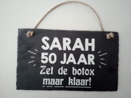 Leisteen Sarah 50 jaar