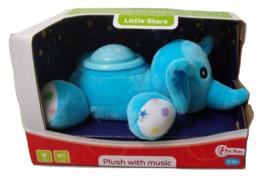 Knuffel Little Stars Olifant Pluche Blauw