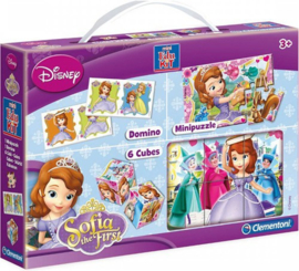 DISNEY SOFIA MINI EDUKIT 3 PARTS (DOMINO, MINIPUZZLE, 6 CUBES) 17X25CM