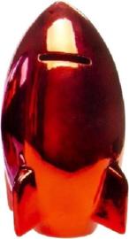 Raket Spaarpot Metallic 15 X 8 Cm Rood