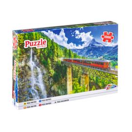 Puzzel berg spoorweg - 1000 stukjes