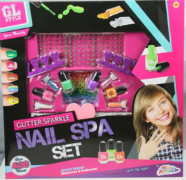 Glitter sparkle nail spa set