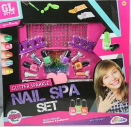 Glitter sparkle nail spa set