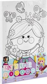 Schilderen op nummer voor kinderen prinses