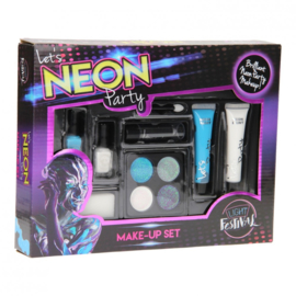 Neon Make-Upset Blauw
