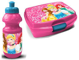 Princess lunchbox en drinkbeker ROZE