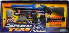 Politieset 7-delig Zwart/blauw
