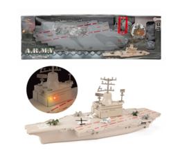 ARMY Vliegdekschip militair met licht en geluid en vliegtuigen