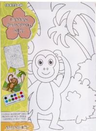 Maak je eigen aap schilderij (L)