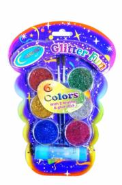 Glitterverf 9 delig 24 cm
