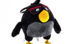 Angry Birds Sleutelhanger Plush 9cm (Zwart)