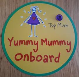 Yummy Mummy onboard (auto raam bordje)