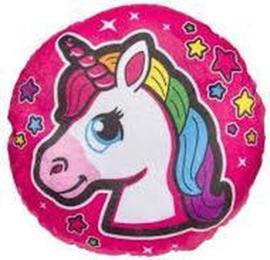 Kussen unicorn roze/paars of licht roze