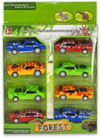 Car Military 8cm Pull Back 8 pieces 18,5x22cm