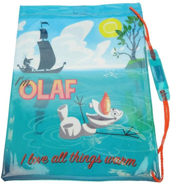 Disney Frozen Olaf Zwemtas met trekkoord voor Kinderen Blauw – 32x41x2cm   Zwemles   Schoolzwemmen   Tas voor Zwemspullen voor Jongens en Meisjes   Gymtas   Sporttas