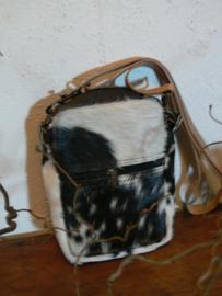 Schoudertasje koe, zwart