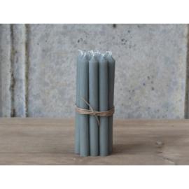 Bundel 5 dunne kaarsjes - grijs