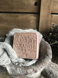 Blok zeep amber/sinaasappel