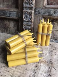 Bundel 5 kaarsjes - mosterdgeel