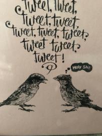 """Kaart """"Tweet, tweet  ..."""""""