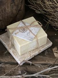 Hammam zeep  met travertin zeepschaaltje