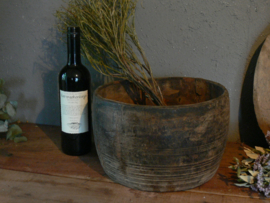 Grote oude houten payali pot