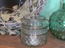 Windlichtje groen glas