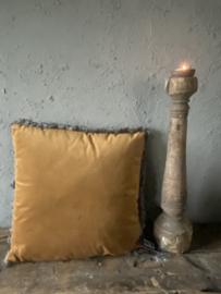 Kussen fluweel koper 45 x 45 cm
