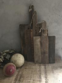 Oud houten snijplank - L